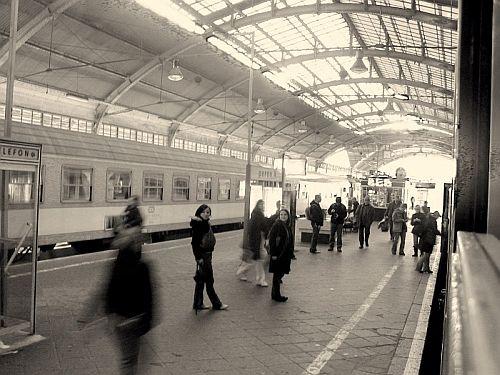 dworzec z powrotnego pociągu