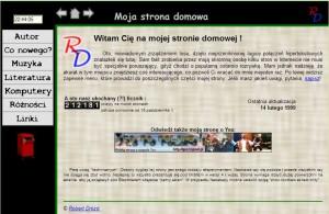 Wygląd strony domowej z 1999