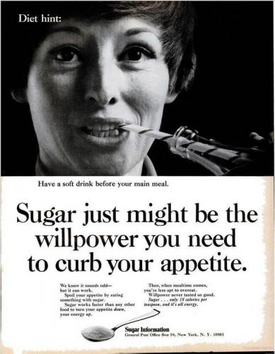 Reklama - cukier poskromi twój apetyt